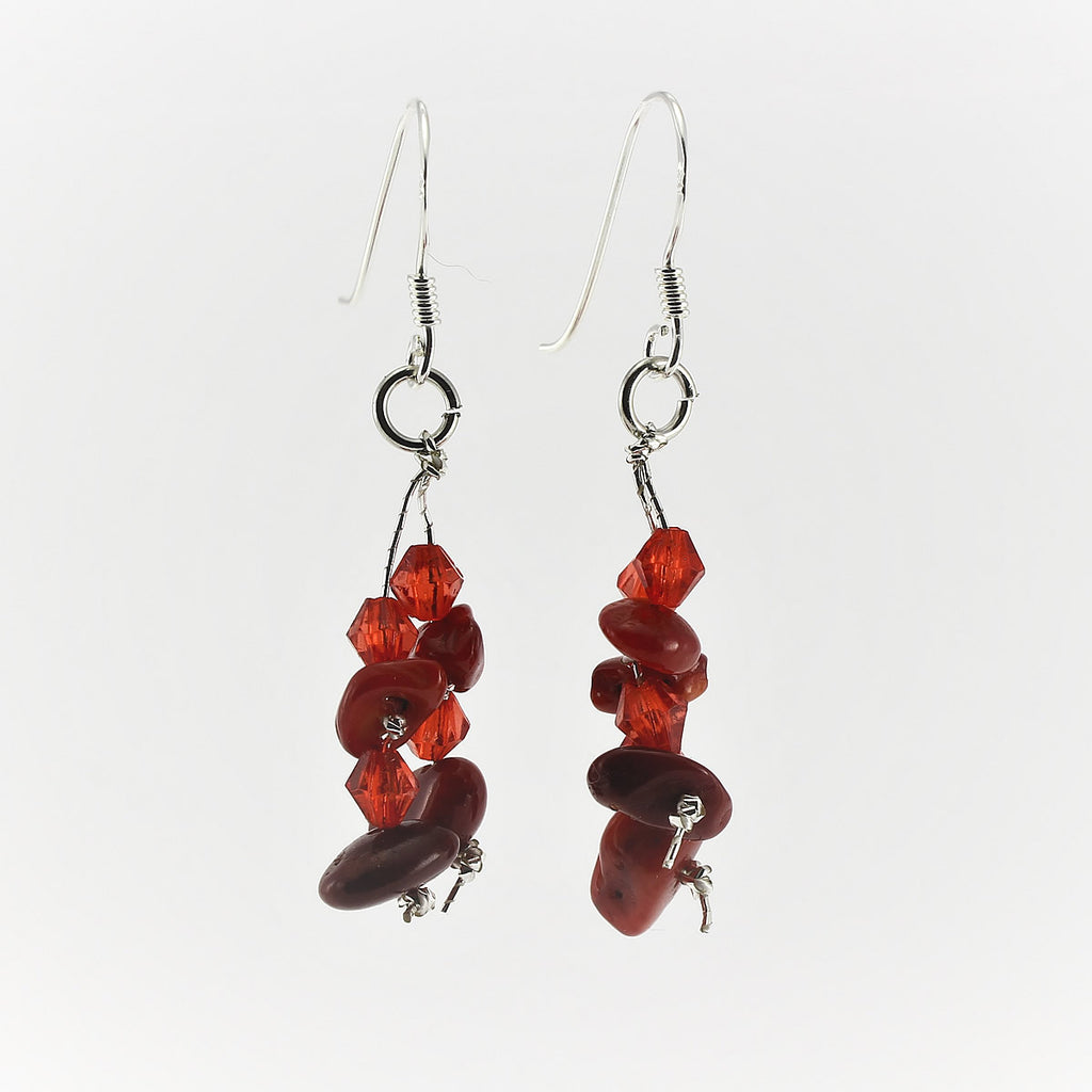 SWE0060CO - MIA - Red Coral Drop Earrings
