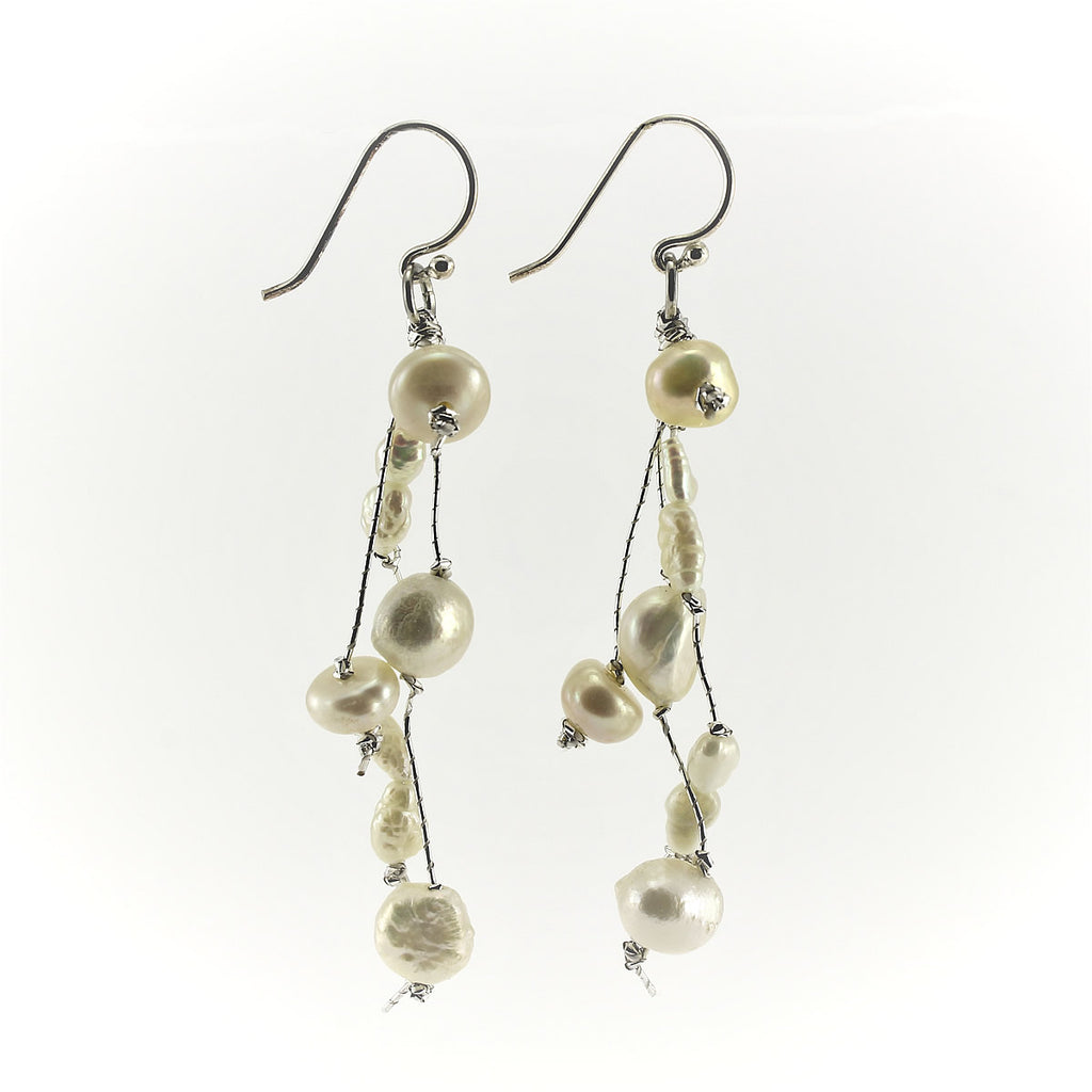 SWE0050WH- MILLY - White Freshwater Pearl Drop Earrings