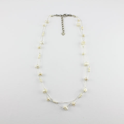 SWN0050WH - MILLY - White Freshwater Pearl Necklace