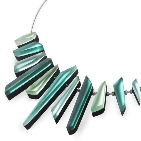 Mint Coloured Resin Necklace - Matt Finish