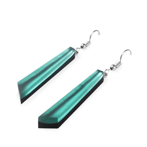 Mint Coloured Resin Earrings - Matt Finish