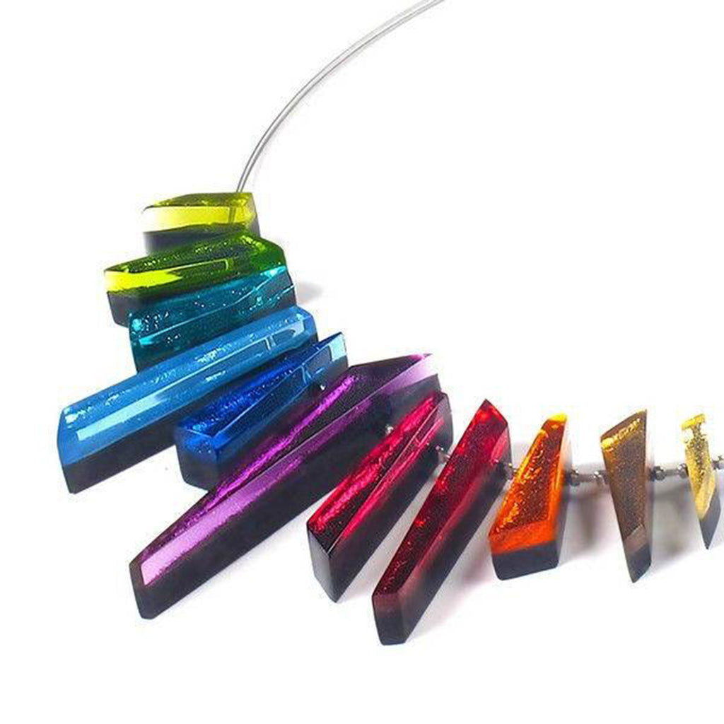 Rainbow Coloured Resin Necklace