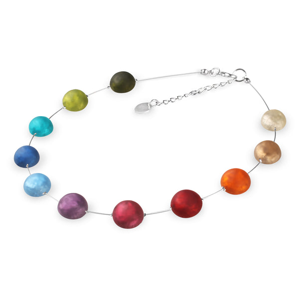 Multi-Coloured Circles Resin Necklace