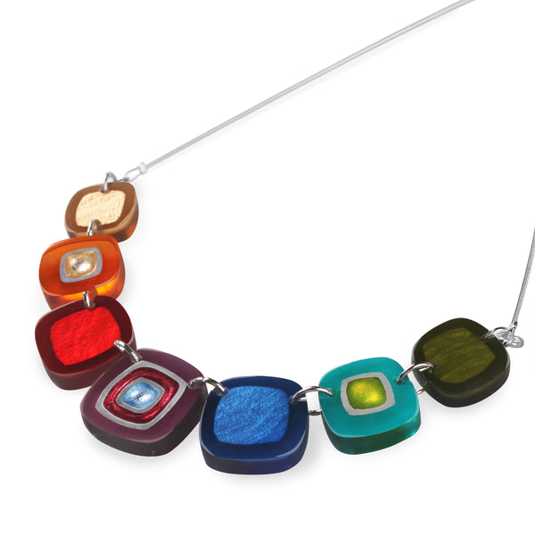 Multi-Coloured Resin Necklace