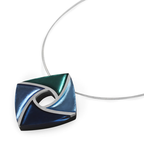 Blue & Green Resin Necklace