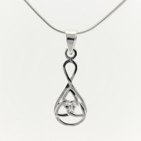 SWN132 Sterling Silver Pendant Necklace