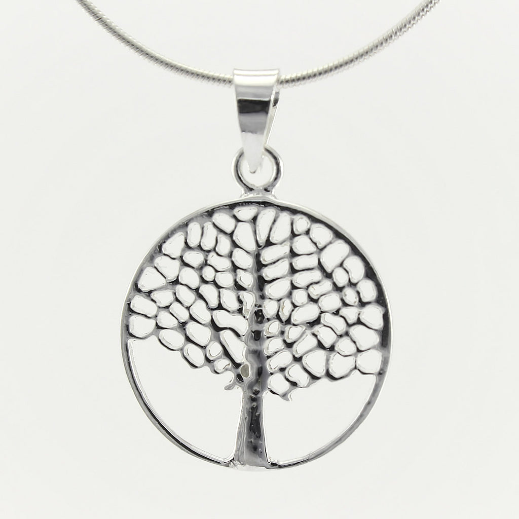 SWN137 Sterling Silver Pendant Necklace