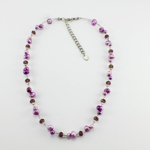 SWN0017 - SOPHIE - Purple Freshwater Pearl Necklace