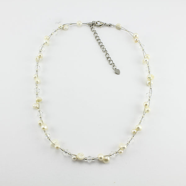 SWN0017WH - SOPHIE - White Freshwater Pearl Necklace