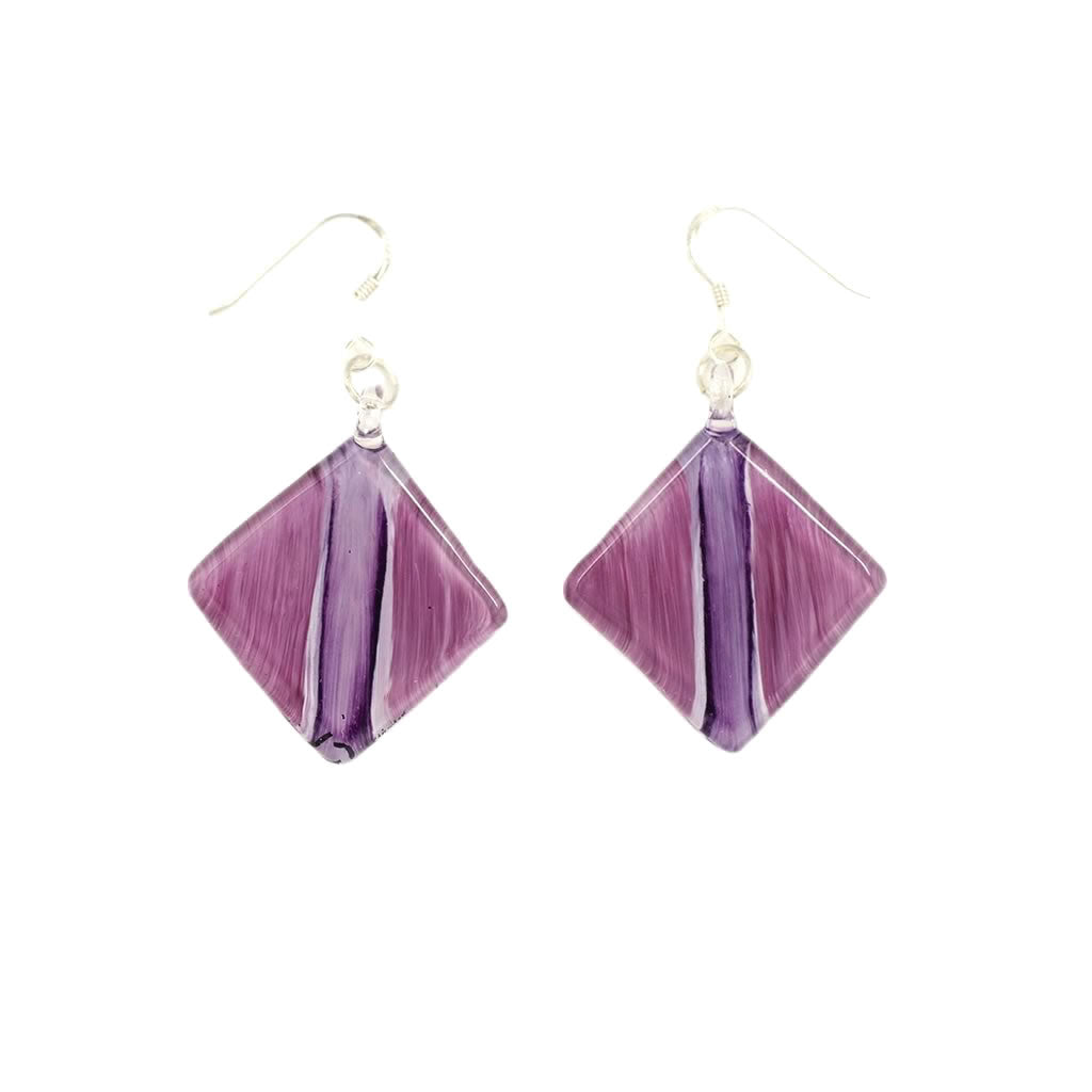 Fatlip-Jupiter-Purple-Glass-Earrings-Brushstroke-Design