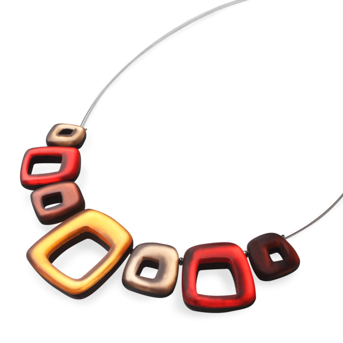 Red/Orange/Gold Coloured Necklace