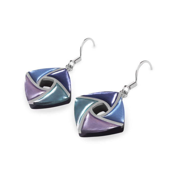 Purple & Blue Resin Earrings