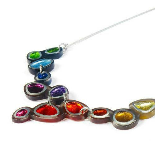 Multi Coloured Bubble Shaped Resin Necklace
