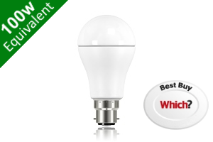 Classic Globe (GLS) B22 13W (100W) Frosted LED Light Bulb