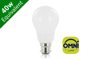 Omni 300° Classic Globe B22 5.5W (40W) Frosted LED Light Bulb