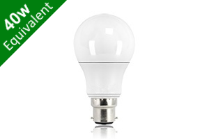 Classic Globe (GLS) B22 6.8W (40W) Frosted LED Light Bulb