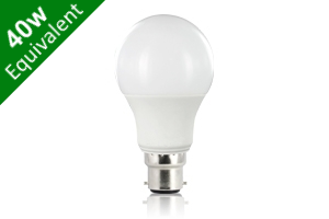 Classic Globe (GLS) B22 6.6W (40W) Frosted LED Light Bulb