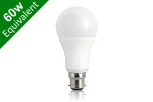 Classic Globe (GLS) B22 9W (60W) Frosted LED Light Bulb