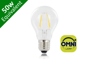 Filament Classic Globe (GLS) E27 4.5W (50W) Clear LED Light Bulb