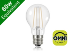 Filament Classic Globe (GLS) E27 6.2W (60W) Clear LED Light Bulb