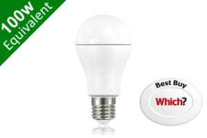 Classic Globe (GLS) E27 12.5W (100W) Frosted LED Light Bulb