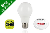 Omni 260° Classic Globe E27 8.2W (60W) Frosted LED Light Bulb
