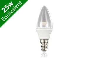 Candle E14 3.8W (25W Replacement) Clear LED Light Bulb