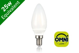 Omni 290° Candle E14 3.6W (25W) Frosted LED Light Bulb