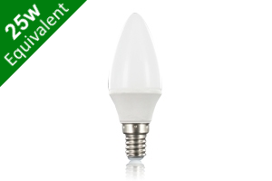 Candle E14 3.8W (25W Replacement) Frosted LED Light Bulb