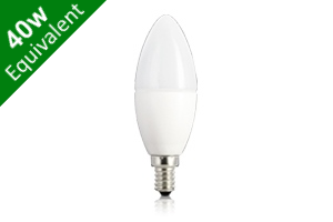 Candle E14 5.9W (40W Replacement) Frosted LED Light Bulb
