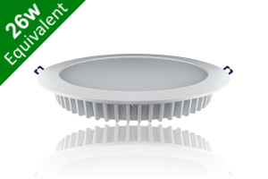 Downlight 15W (26W) 200mm Matt White Ceiling Recessed LED Light