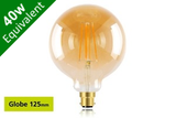 Vintage Filament Globe 125mm B22 5W (40W) Clear LED Light Bulb - Sunset