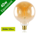 Vintage Filament Globe 125mm E27 5W (40W) Clear LED Light Bulb - Sunset