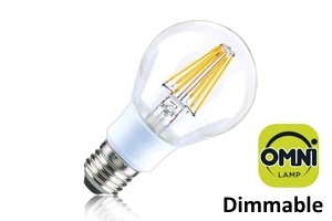 Filament Classic Globe (GLS) E27 7W (60W) Clear LED Light Bulb