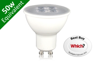 -- GU10 SMD 5.3W (50W Replacement) LED White Base Spotlight - Which?