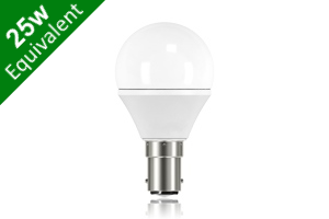 Mini Globe B15 3.8W (25W) Frosted LED Light Bulb
