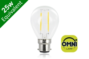 Filament Mini Globe B22 2W (25W) Clear LED Light Bulb