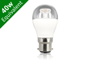 Mini Globe B22 6.5W (40W) Clear LED Light Bulb