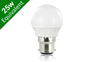 Mini Globe B22 3.5W (25W) Frosted LED Light Bulb