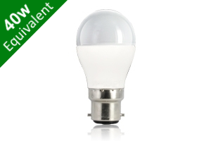Mini Globe B22 6W (40W) Frosted LED Light Bulb