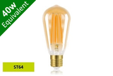 Vintage Filament ST64 E27 5W (40W) Clear LED Light Bulb - Sunset