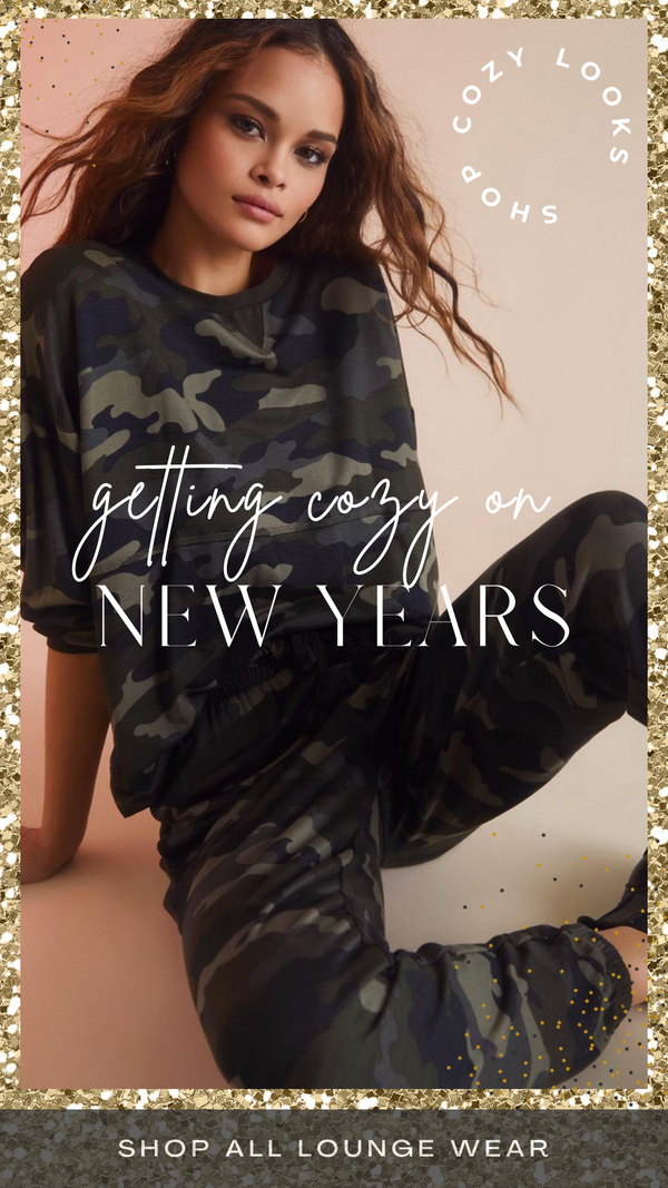 NOTHIN' TO SEE HERE TOP BB DAKOTA GREEN CAMO LOUNGEWEAR SETS