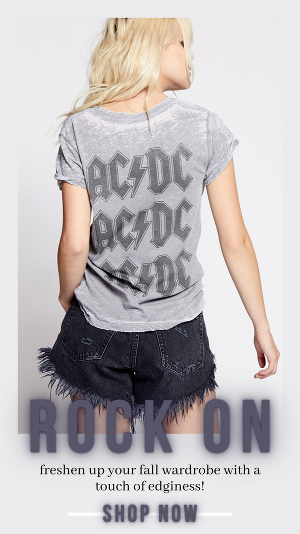 AC DC BOLT TEE RECYCLED KARMA VINTAGE ROCK TEE