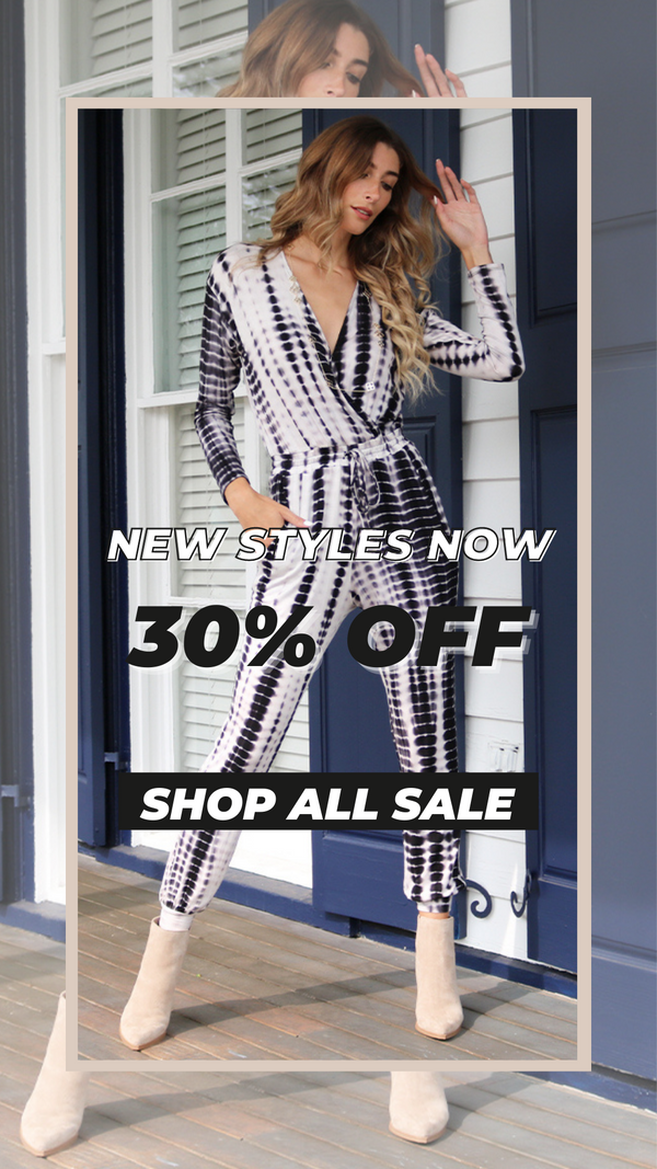 New Styles At 30% Off