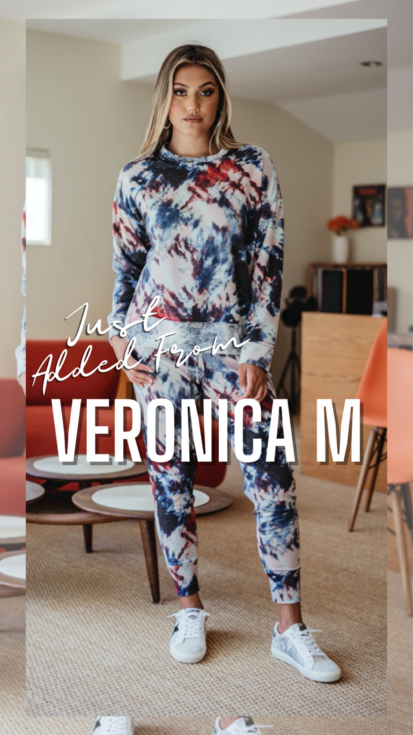 COZY SWEATSHIRT VERONICA M MATCHING SETS FALL TIE DYE TOP AND PANTS
