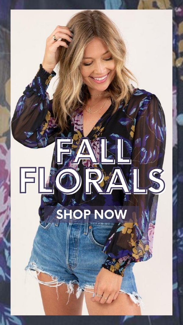 BRIGHTON BLOUSE LOVESTITCH FALL FLORAL BRIGHTON BLOUSE