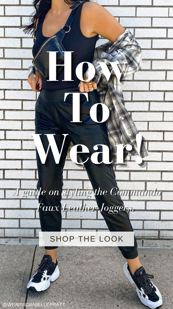 How To Wear Faux Leather Joggers
