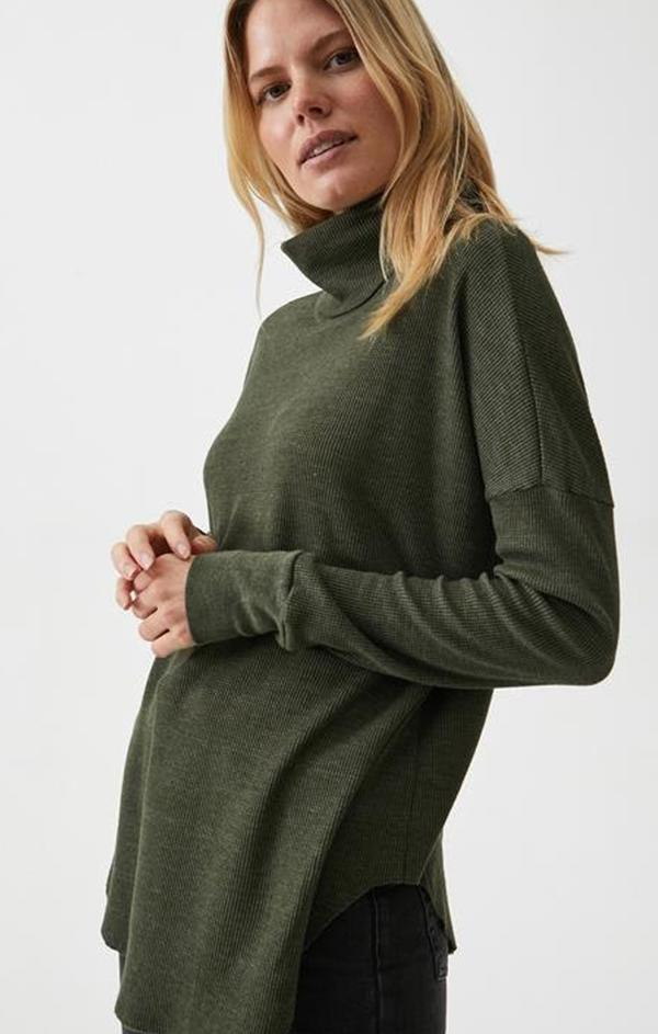 MARCY TOP MICHAEL STARS THERMAL TURTLENECK FALL TOP