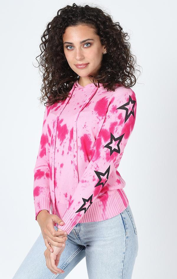 MANUKA SWEATER HOODIE CENTRAL PARK WEST PINK STAR HOODIE TOPS