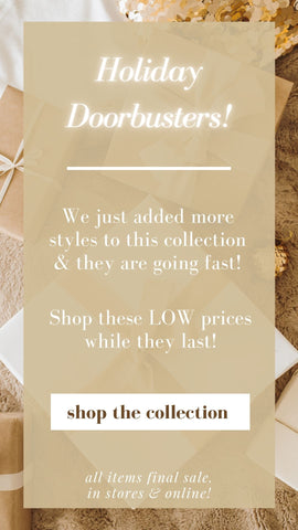 SALE MINT DOOR BUSTERS HOLIDAY GIFTS
